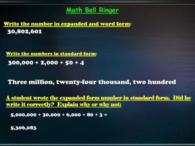 29,29 29,29 Math Bell Ringer Create a number: - ppt download