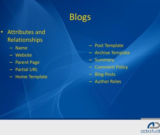 Blogs Attributes And Relationships Post Template Name Archive Template