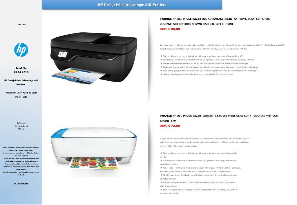 Hp Deskjet Ink Advantage 3835 Printer Free Download Kankinimas Antrankiai Kaula Ciulpai Hp 3875 Yenanchen Com The Hp Deskjet 3835 Can Print At Speeds Of Up To 20 Sheets Per