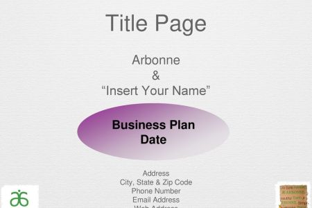 Business Plan Template   ppt download 3 Title Page
