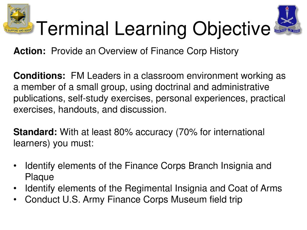 U S Army Finance Corps History