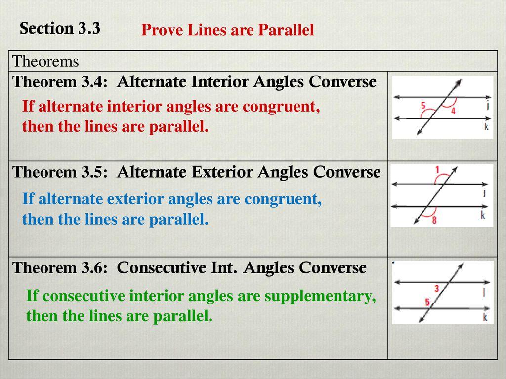 Consecutive Interior Angles Converse