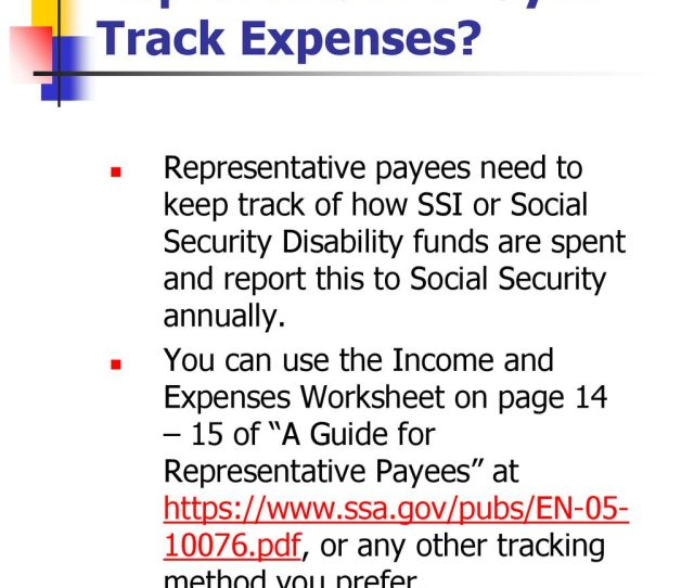 How Does A Representative Payee Track Expenses