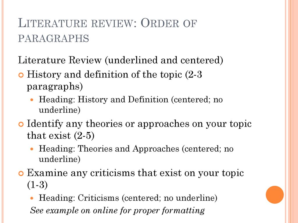 Definition Literature Review How To Write A Literature Review Part 1 01 22
