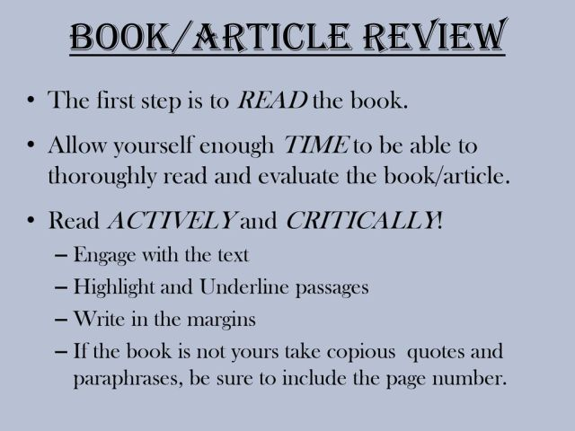Writing a Book Review. - ppt download