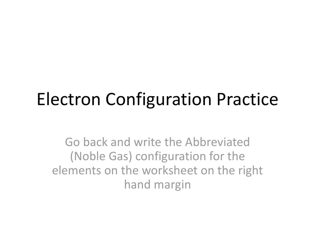 Printables Of Representing Electron Configuration
