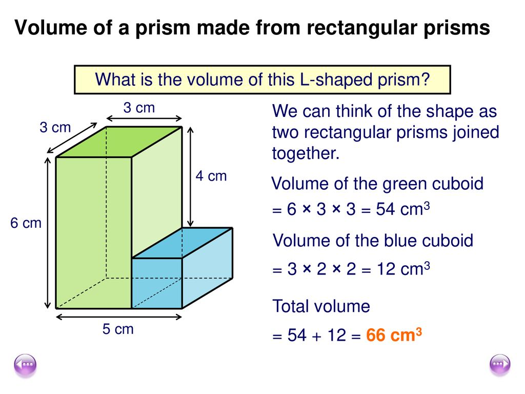 Calculate Volume Of Composite Shapes And Prisms