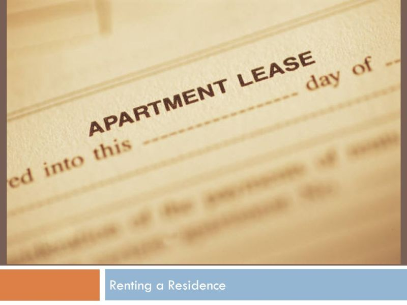 Chapter 21 Renting a Residence    ppt video online download 1 Chapter 21 Renting a Residence