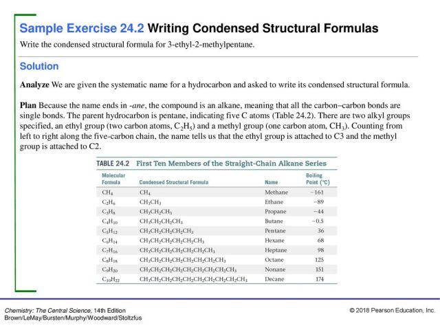 Sample Exercise 166.16 Naming Alkanes - ppt download