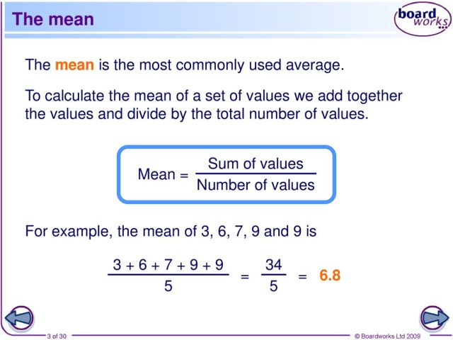 S23 Mean and calculating statistics - ppt download