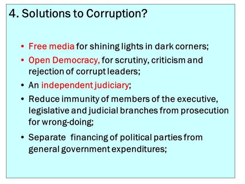 Image result for solutions to corrupt government