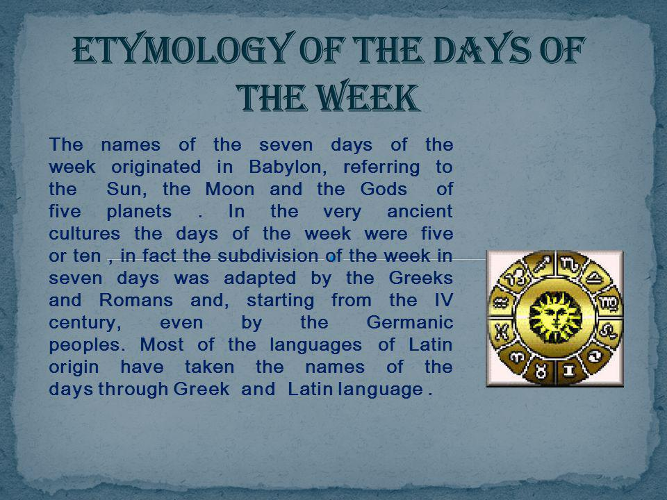Image result for week etymology