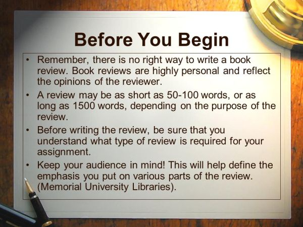 how to write a book review # 25