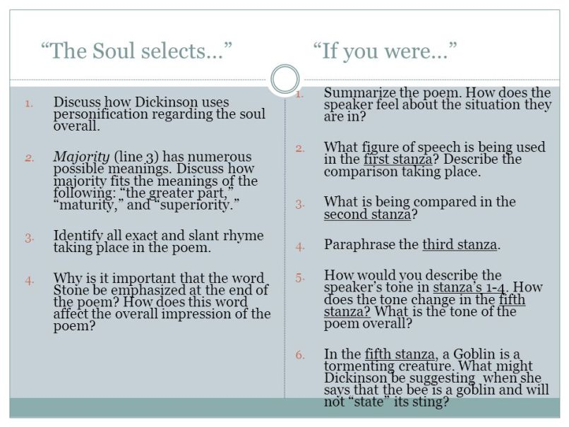 The Soul Selects Her Own Society Poem Analysis   Poemdoc.or
