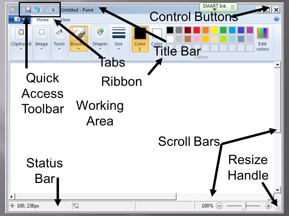 Image result for ms paint title bar