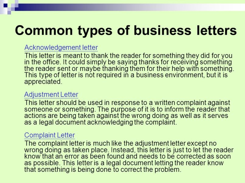 cover letters and business ppt online - Kind Of Business Letter