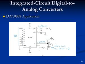 Interfacing to the Analog World  ppt download