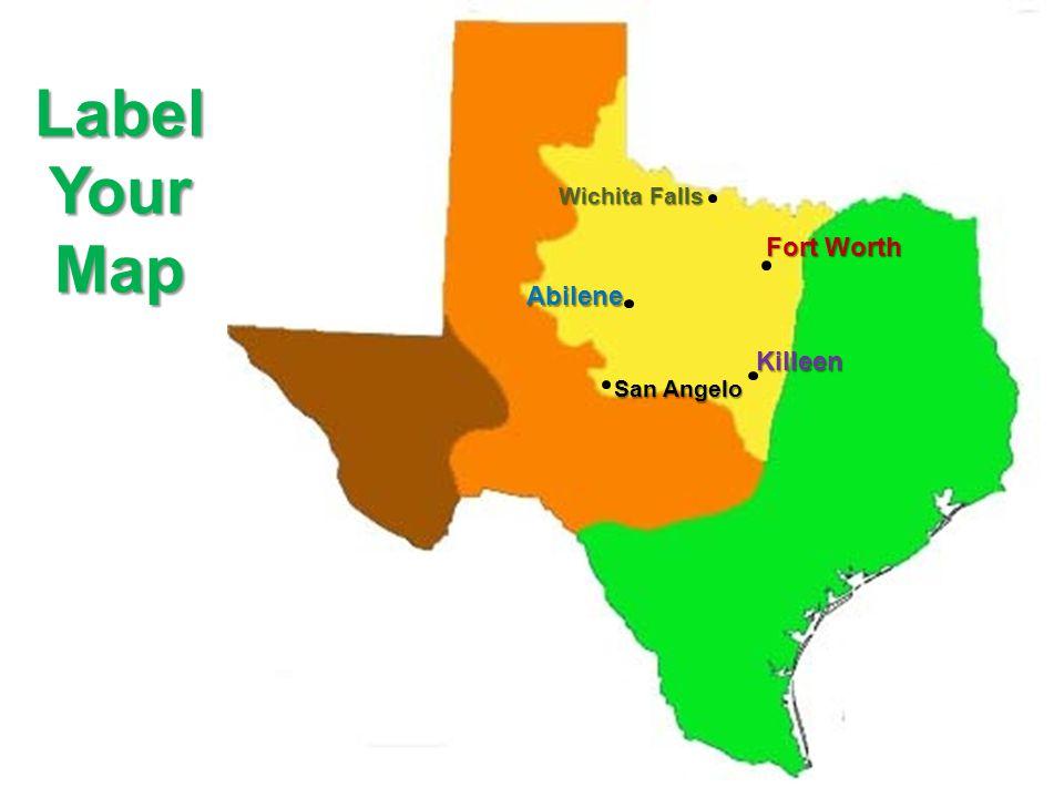 Landform Map Of Texas.Map Texas Major Landforms