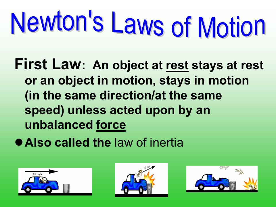 Newtons First Law Motion Examples