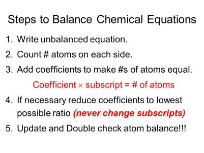 Image result for balancing chemical equations tips