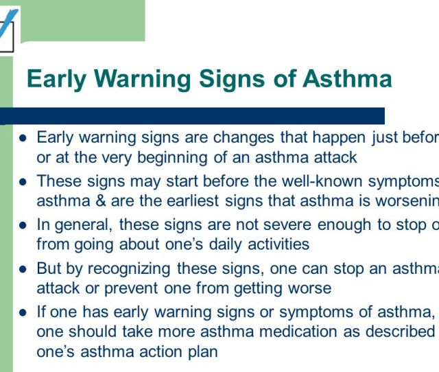 Early Warning Signs Of Asthma