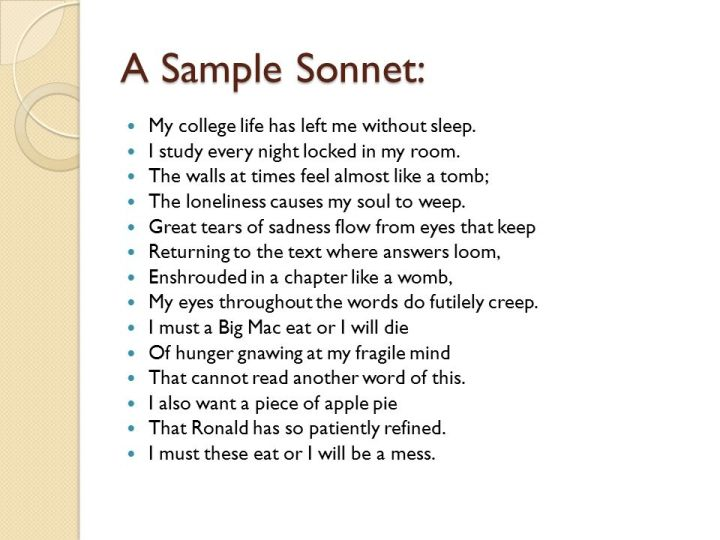 Sonnet Poem Maker Poemview