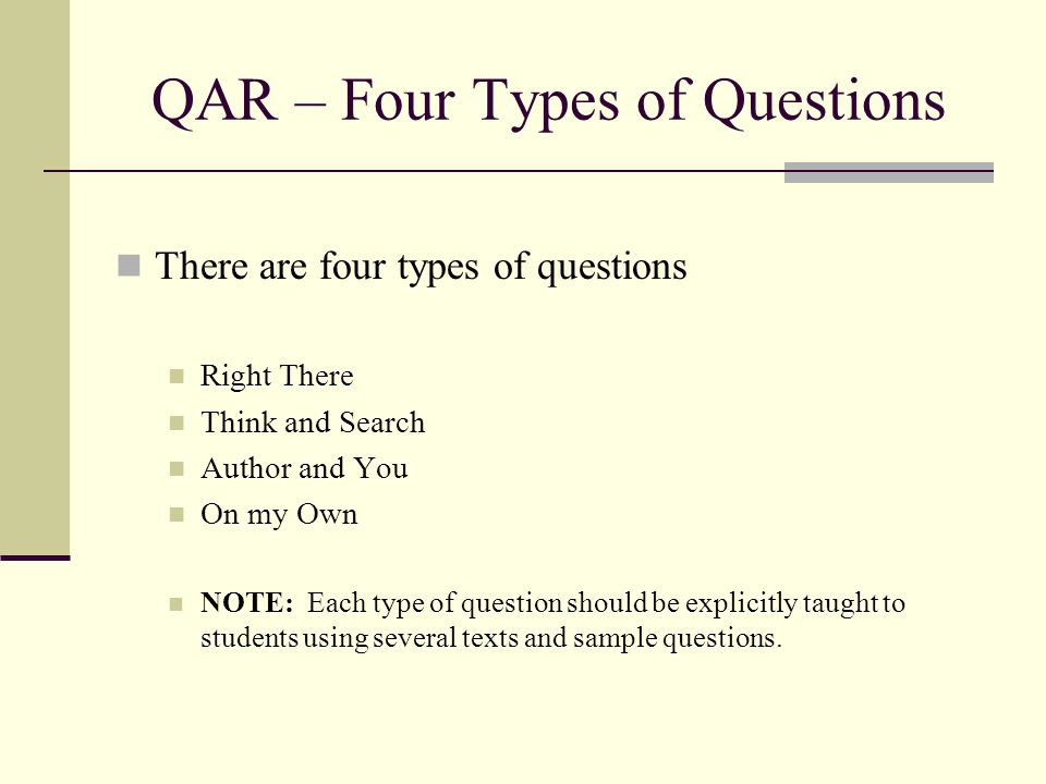 Four Types Questions