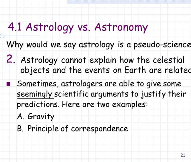 Why Would We Say Astrology Is A Pseudo Science