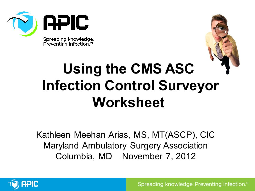 Infection Control Surveyor Worksheet