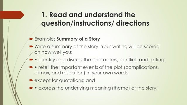 Steps to Write Summary of Story - ppt video online download