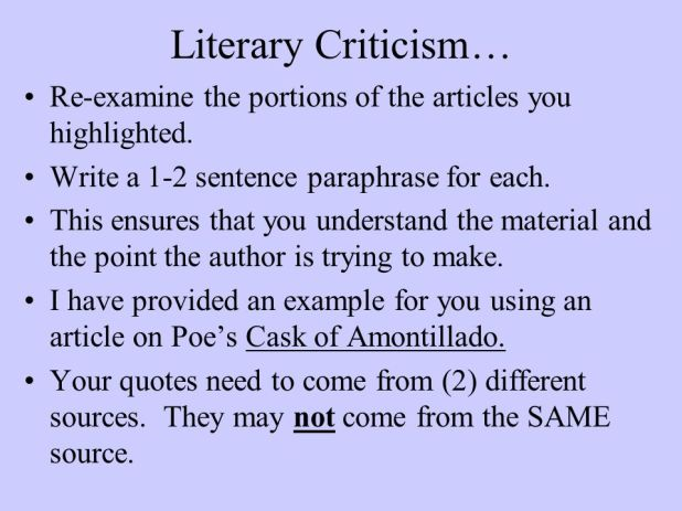 Howto Compose Criticism in a Article