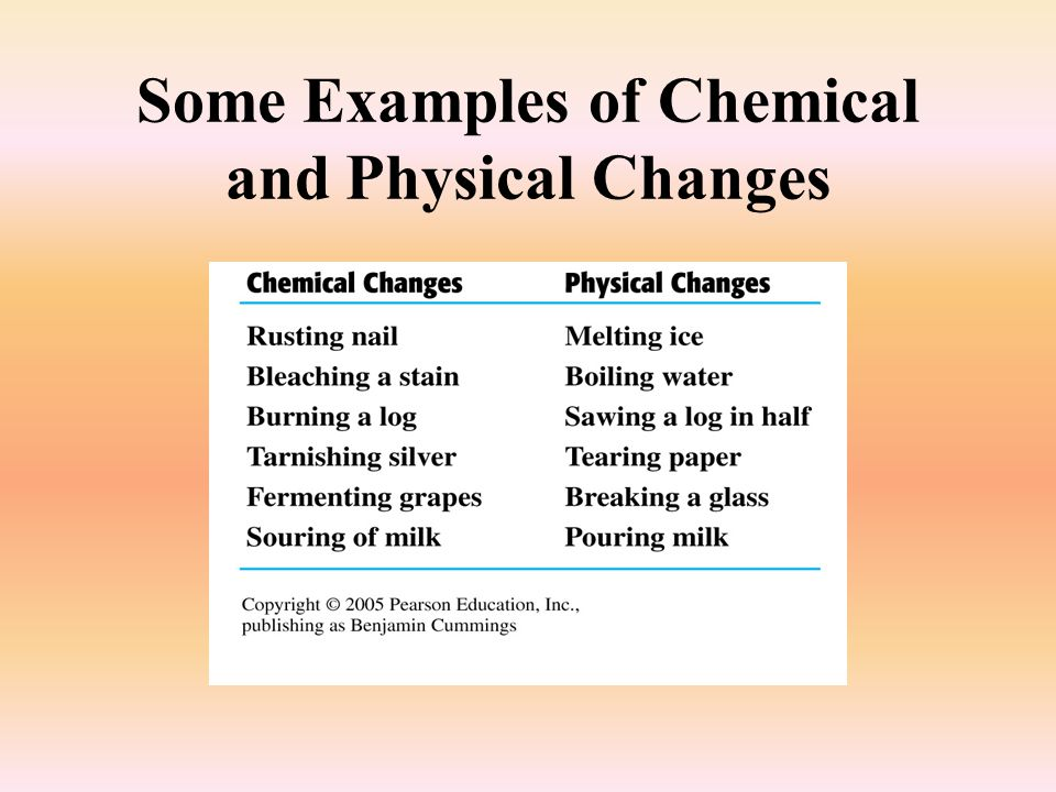 How Chemical Changes Used Physical Are What And Are Substance They And