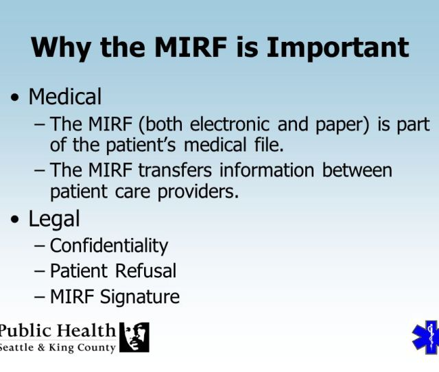 Why The Mirf Is Important