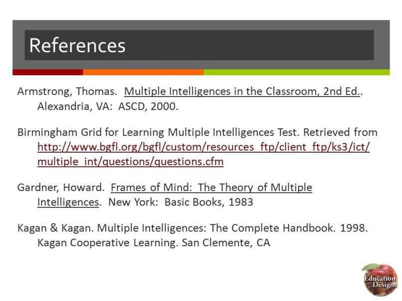 Frames Of Mind The Theory Multiple Intelligences 1983 Reference ...
