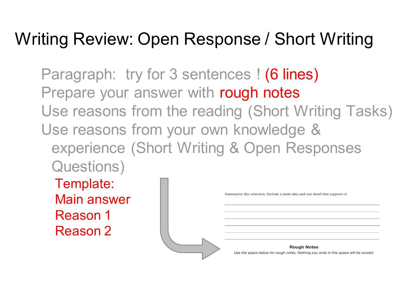 Open Response Short Answer