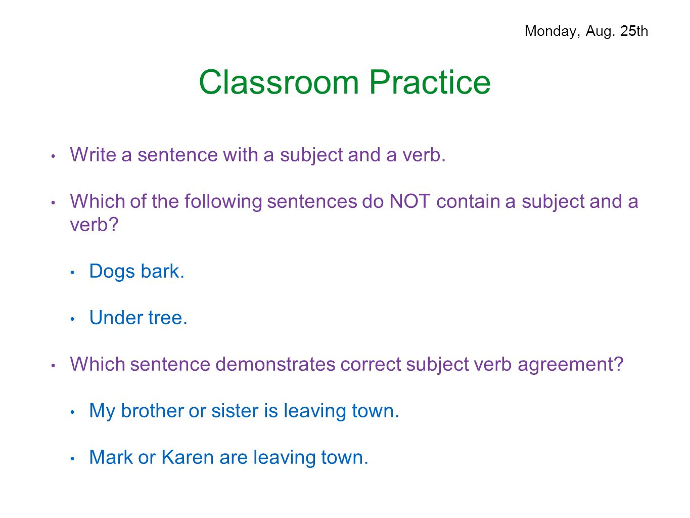 Parts Of Speech August 25 29 Ppt Download