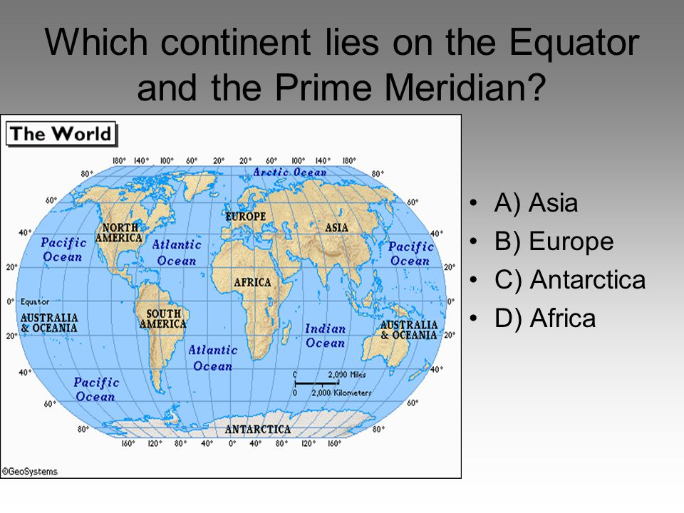 7 Continents And World Map Equator Prime Meridian