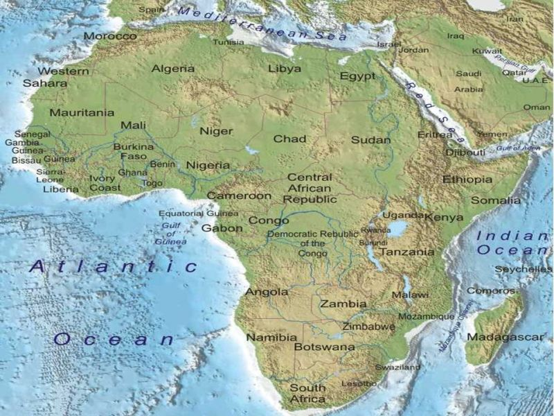 Physical geography of Africa Guiding Question  How does the     3 Physical map of Africa Physical map of Africa