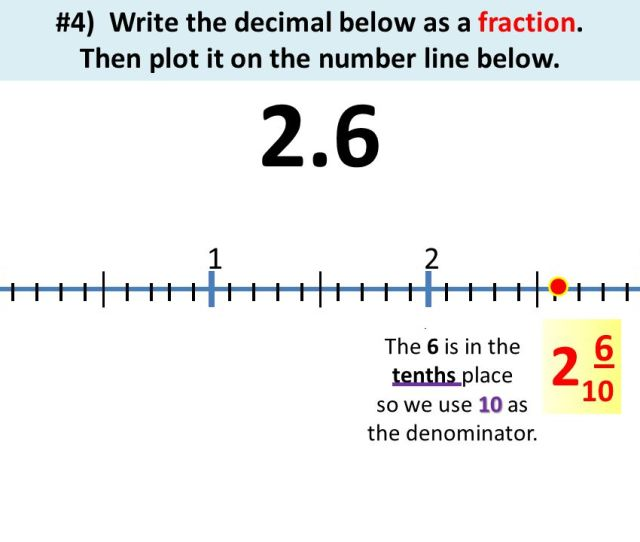 4 Write The Decimal Below As A Fraction