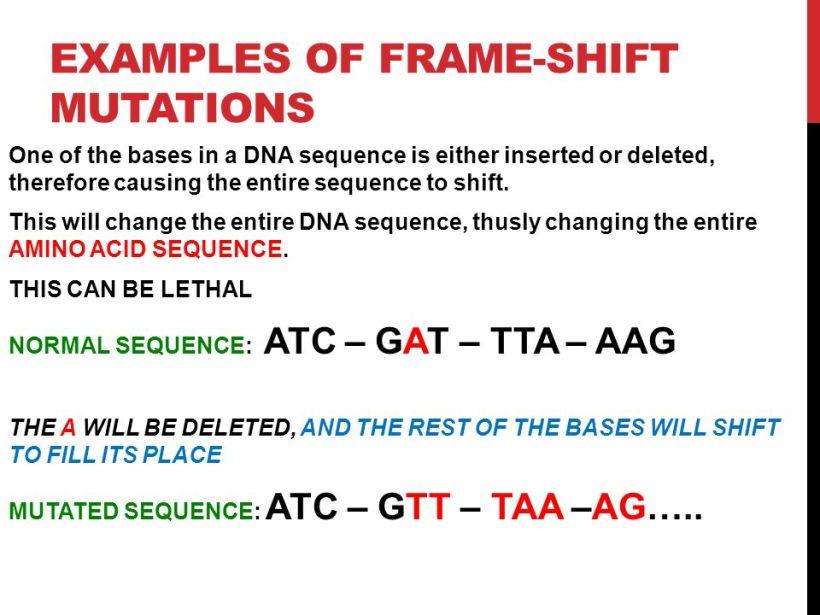 Examples Of Frameshift Mutation Diseases | Frameviewjdi.org