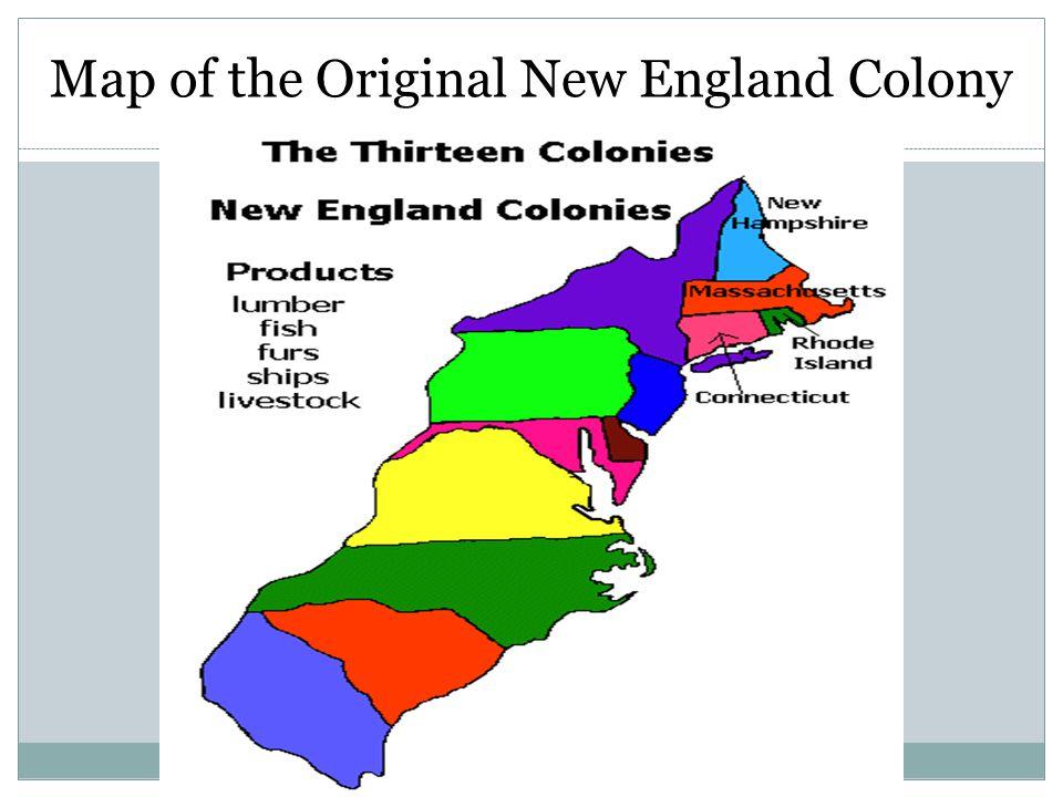 Original 13 Colonies Map Middle