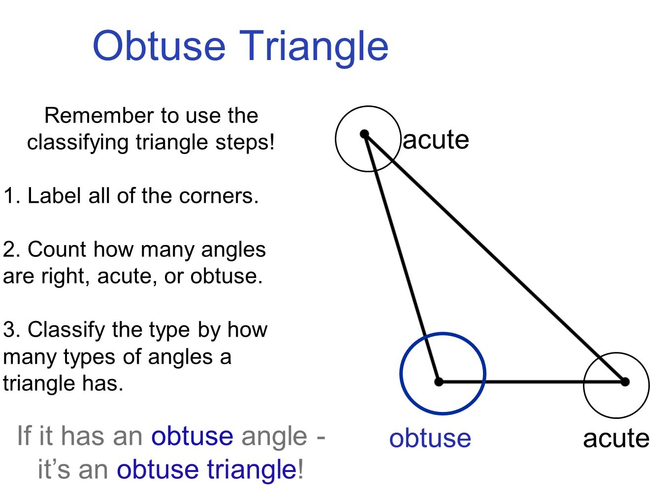 Triangles I Can Describe And Classify Triangles By Their