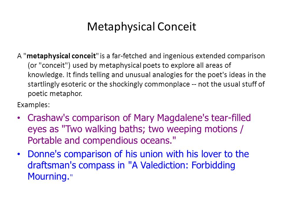 conceit poem examples