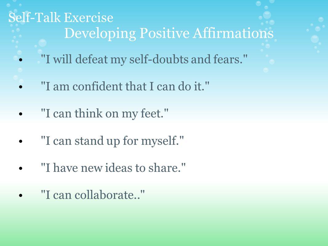 Self Assertive Affirmations