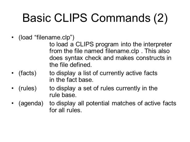 Basic commands (2)