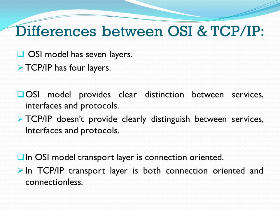 Presentation On Osi Tcpip Model Ppt Video Online Download