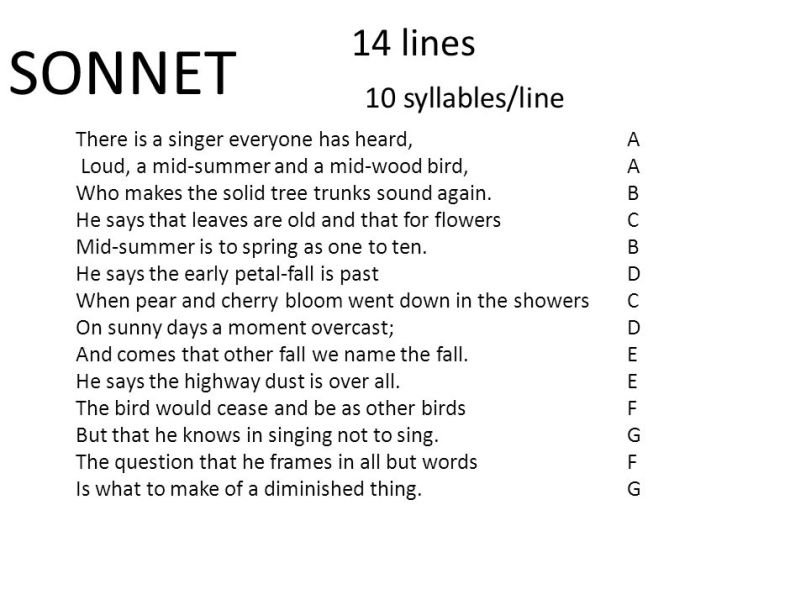 love syllables poem 14 10 sonnet lines