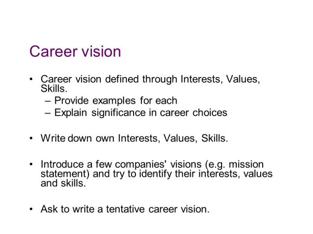 career vision examples