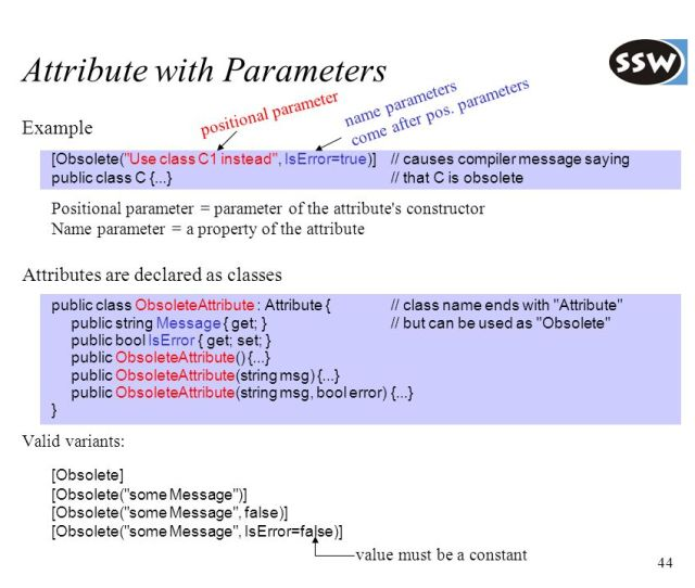 Attribute With Parameters