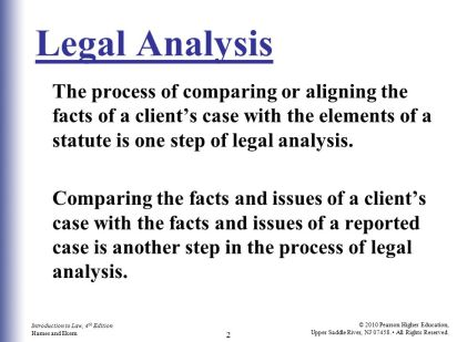 the definition of legal analysis
